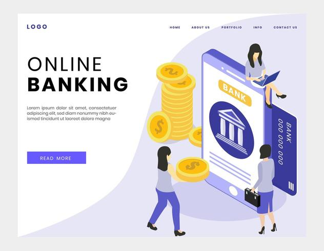 Online-Banking isometrisch vektor