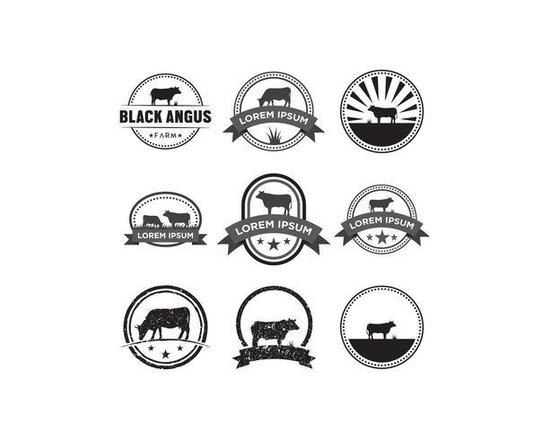Ko emblem logotypuppsättning vektor
