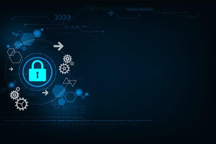 Sicheres digitales Tech-Design vektor