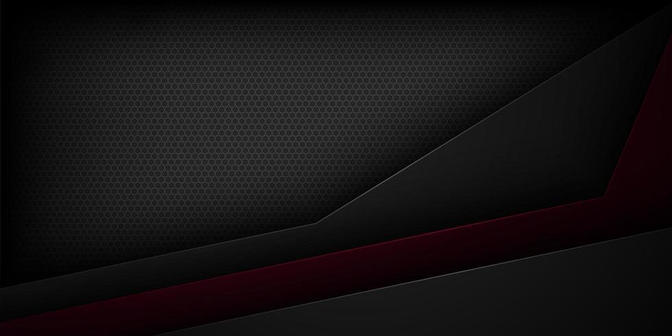 Svart abstrakt svart och röd klippt pappersbakgrund vektor
