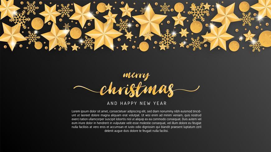 Karte der frohen Weihnachten im Papierschnitt-Arthintergrund vektor