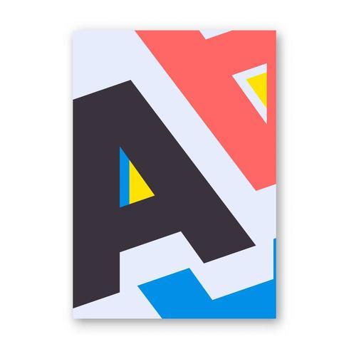 Bokstav A affisch vektor
