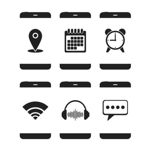 Symbole für Smartphones-Apps vektor