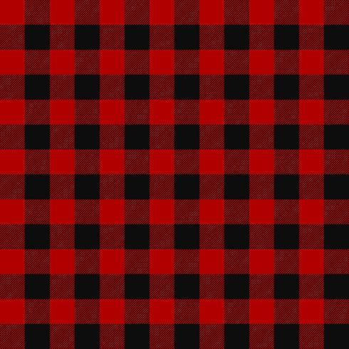 Lumberjack sömlöst rutigt mönster vektor