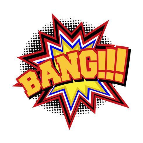 BANG Comic-Text-Soundeffekt vektor