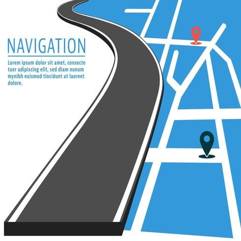Navigation mit dem Stiftzeiger vektor