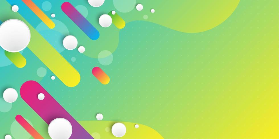 Flüssiger Hintergrund des blauen Grüns mit diagonalen abstrakten Formen vektor