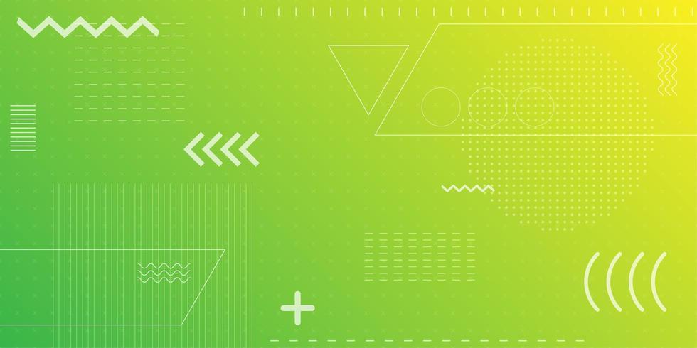 Heller grüner und gelber Retro- Formneonhintergrund vektor
