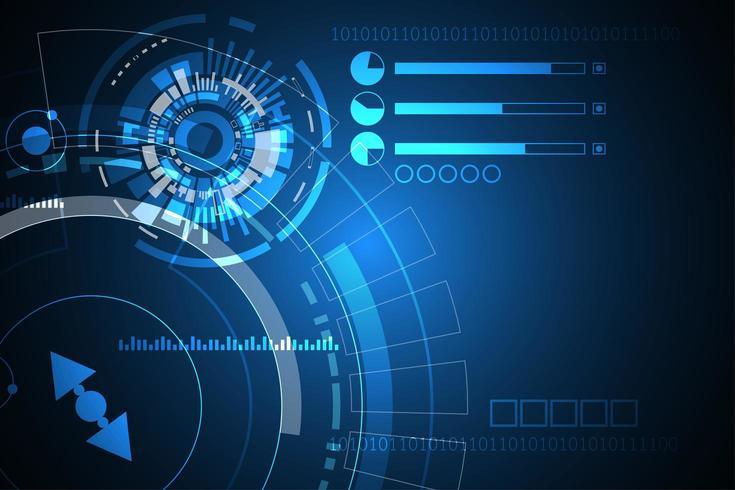 Abstrakte digitale Technologieformen und Linien Anzeige vektor