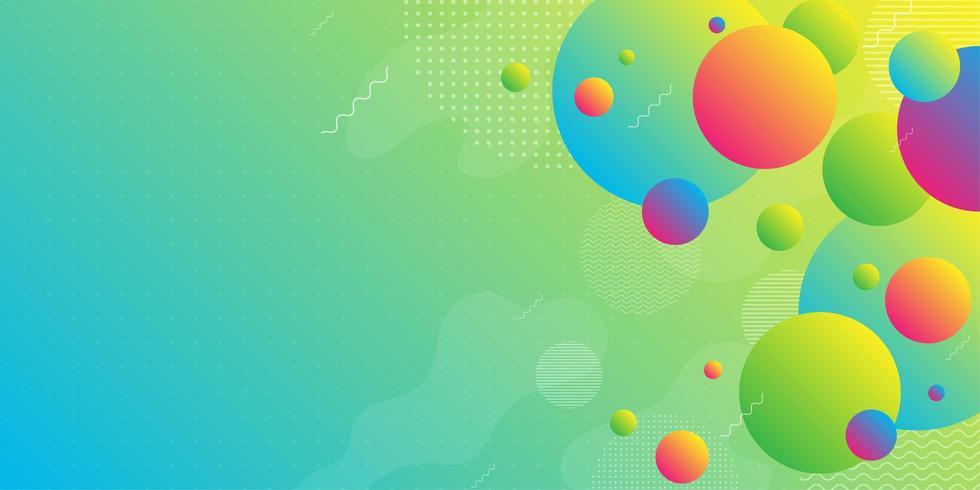 Heller Neonhintergrund mit bunten Steigungsformen vektor
