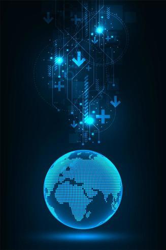 Globale Technologieinnovationen grafisch vektor