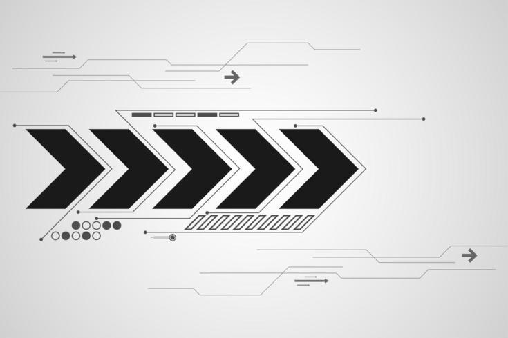 Unbedeutende digitale Pfeile und Schaltungskonzept vektor