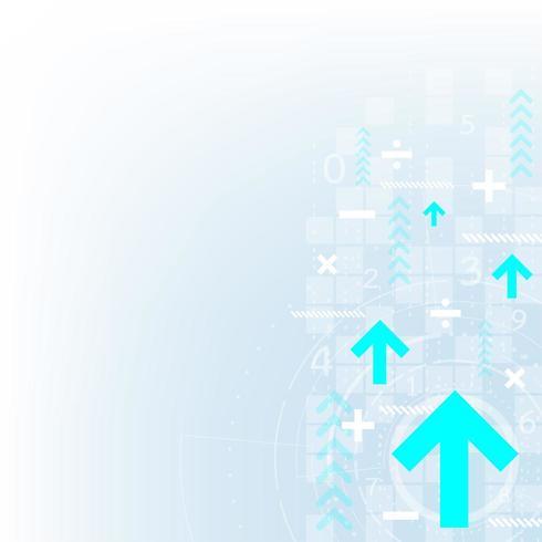 Abstraktes digitales Technologiegeschwindigkeitsdesign mit Pfeilen vektor