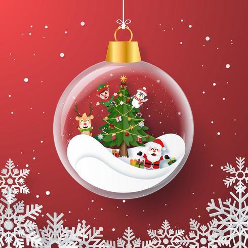 Verzierungs-Glasorigami-Weihnachtshintergrund vektor
