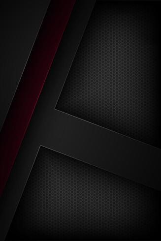 Svart och röd vertikal abstrakt pappersbakgrund vektor