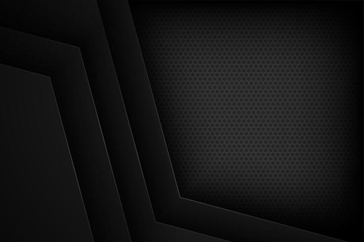 Överlappande pappersbakgrund för svart vinkel vektor