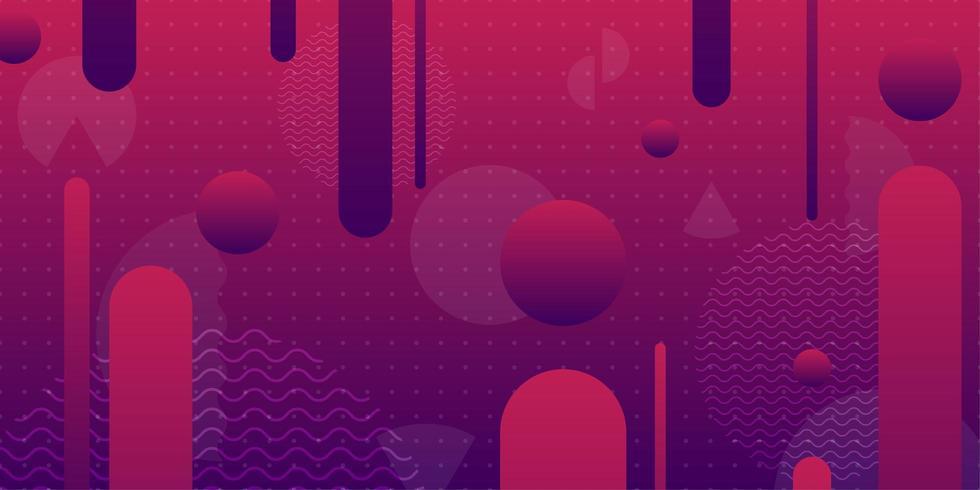Purpurrote und rosa geometrische gerundete geometrische Formen 3d vektor