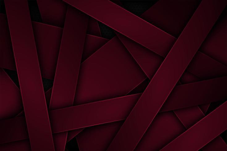 Mörkeröd abstrakt vektorbakgrund med överlappande egenskaper. vektor