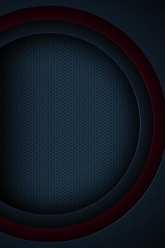 Mörkblå och röd vertikalt 3d krökt lagerlagereffekt vektor