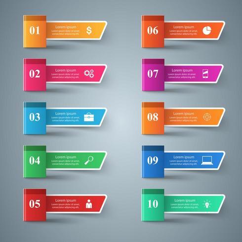 Papierbuch - Geschäft infographic. vektor
