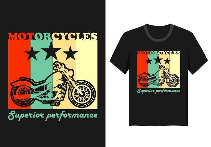 vintage motorcykel t-shirt design vektor