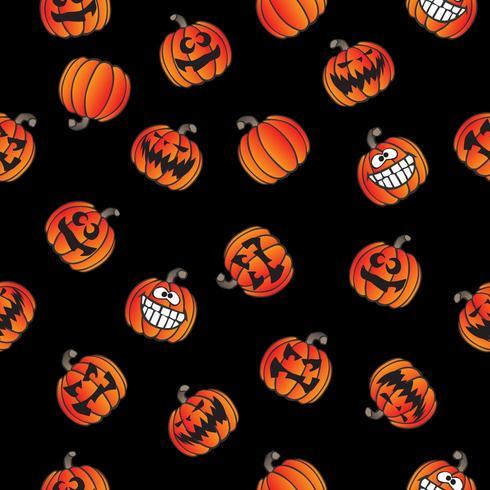 Spaß Halloween Jackolantern nahtlose Retro-Muster vektor