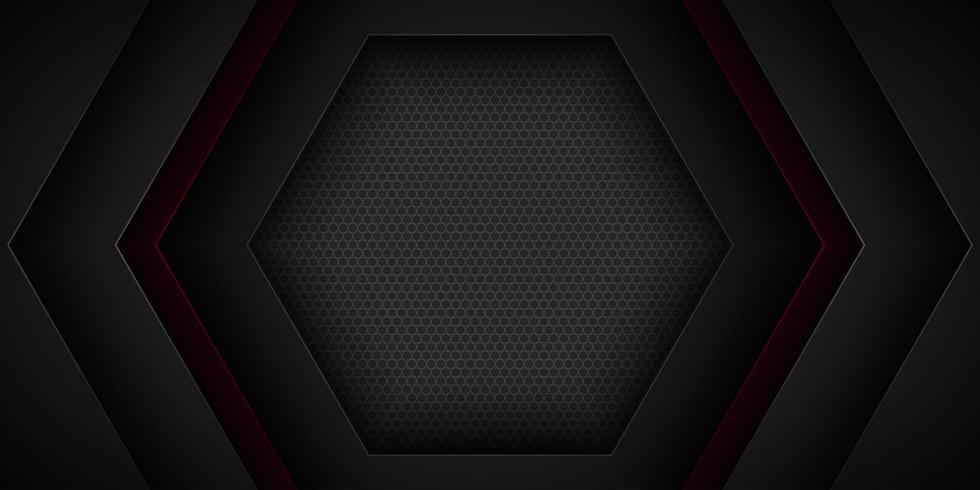 Svart abstrakt överlappande hexagonformdesign vektor