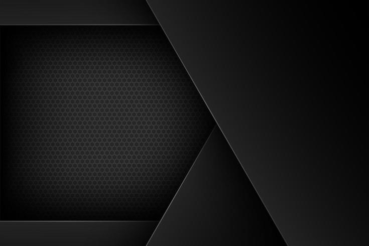 Svart abstrakt överlappande formdesign vektor