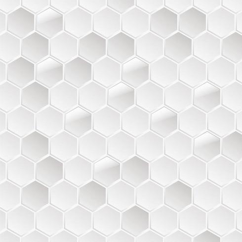 Hexagon vit bakgrund vektor