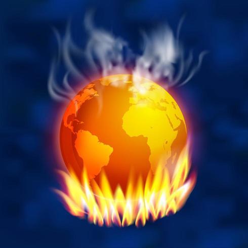 Global uppvärmning koncept vektor