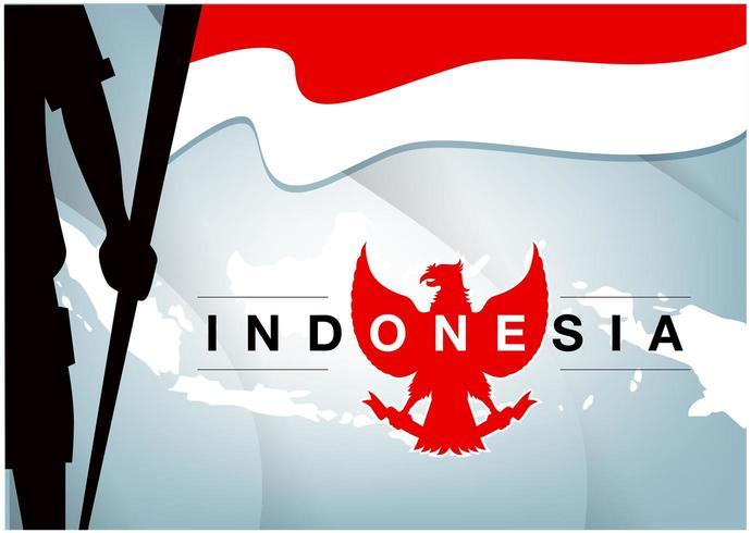 Indonesiens självständighetsdag-banner vektor