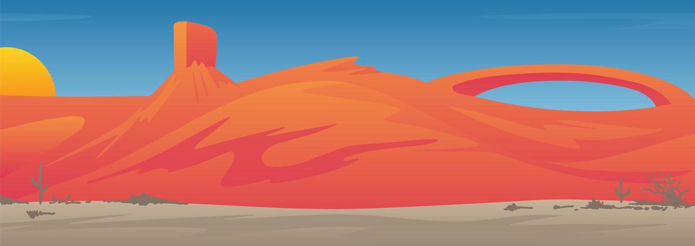 Südwestliche US-Wüsten-Tal-Landschaftsszene vektor