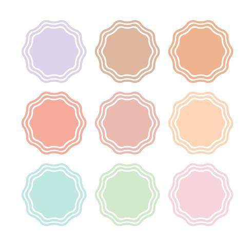 Instagram Höjdpunkter Berättelser pastellmärken vektor