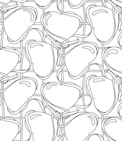 Seamless fodrad mönster med hjärtaform. vektor