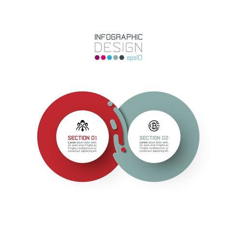 Zwei harmonische Kreis Infografiken. vektor