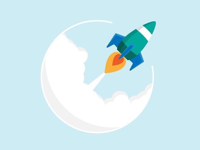 Startup Raketenstart vektor
