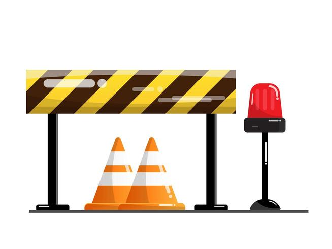 Straße und Straßensperre vektor