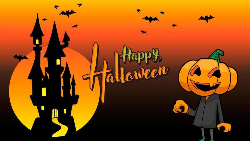 Halloween-Orangenhintergrund des Kürbises glücklicher vektor