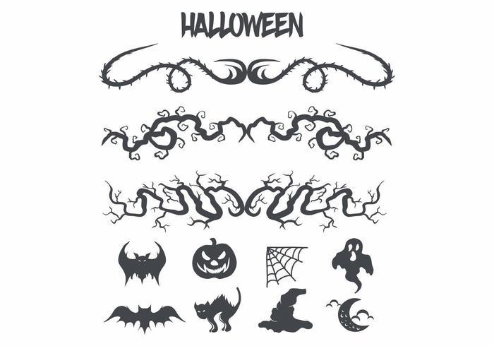 Halloween Bilder und Dekorationen festgelegt vektor