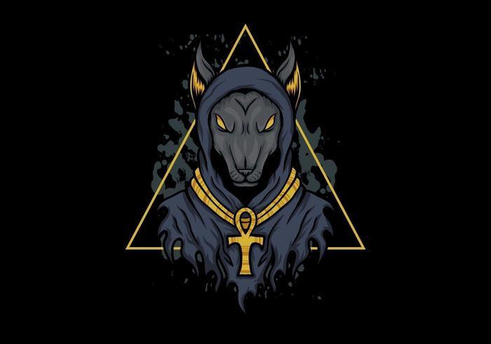 Anubis Hundeabbildung vektor