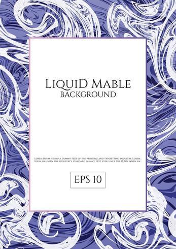 Purpurfärgad blå flytande marmorbakgrund vektor