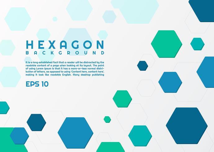 Hexagon stil modern bakgrund vektor