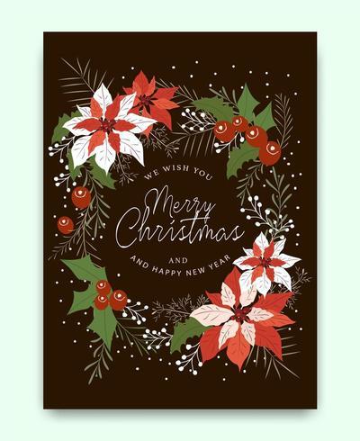 Frohe Weihnachten Grußkartenmuster vektor