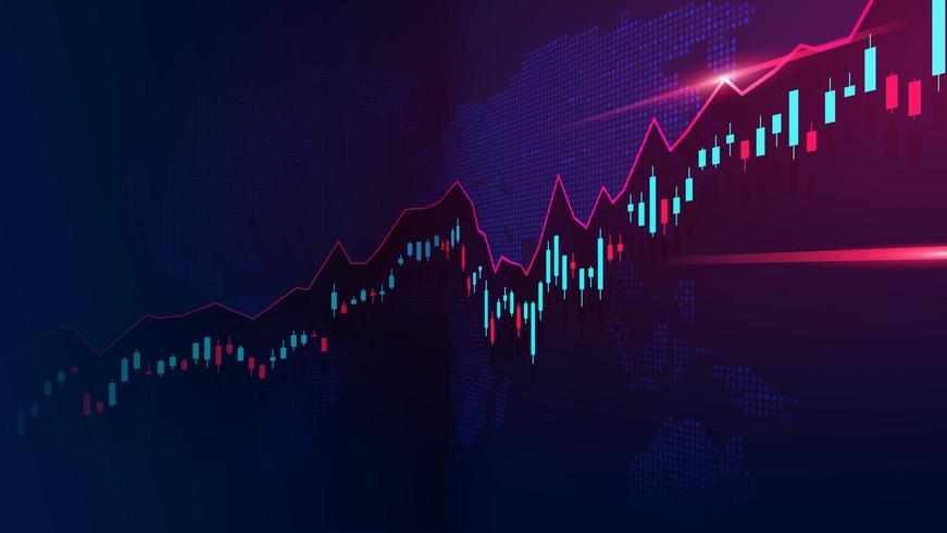 Aktiemarknad eller valutahandel graf vektor