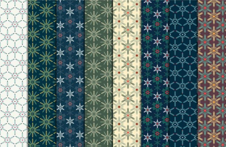 Weinlese-Weihnachtsnahtloses Muster vektor