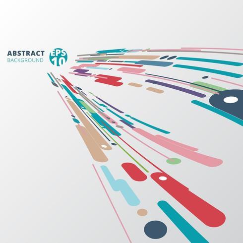 Moderner Stil abstrakte Komposition vektor