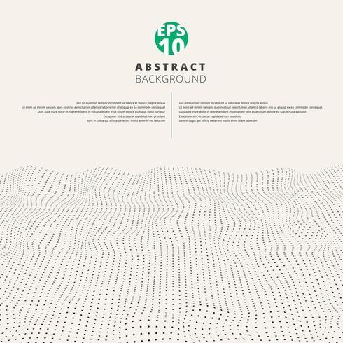 Abstrakt texturerat våg grov svart prickmönster vektor