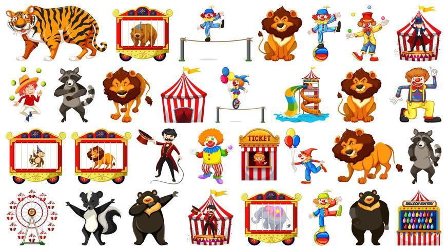 Großes Zirkus-Set vektor