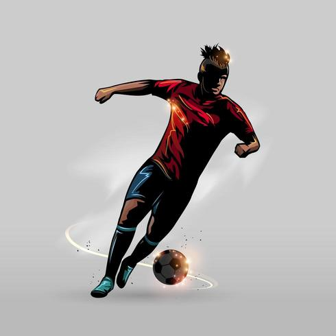 fotboll steg framåt vektor