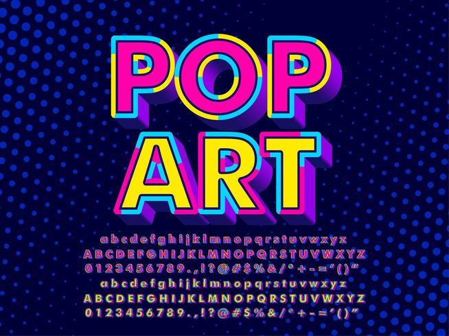 3D Pop Art Texteffekt vektor